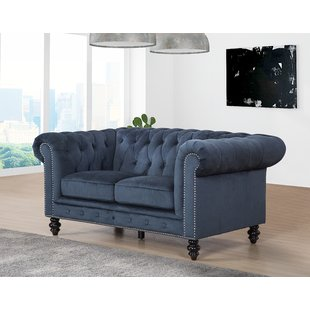 Blue Leather Loveseats You'll Love | Wayfair