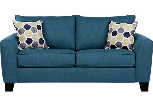 $424.00 - Bonita Springs Blue Loveseat - Classic - Transitional