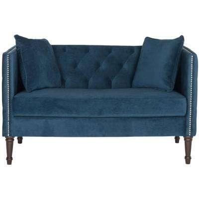 Tufted - Blue - Loveseat - Sofas & Loveseats - Living Room Furniture