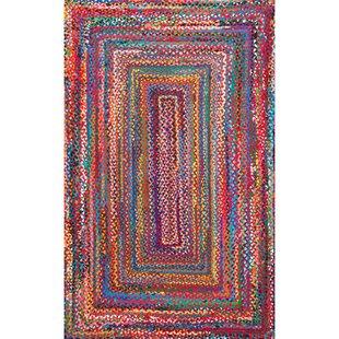 Pastel Braided Rug   Wayfair