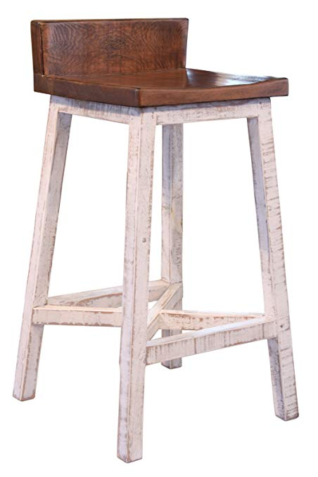 Amazon.com: Anton Farmhouse Solid Wood Distressed White 30 inch