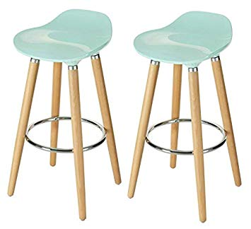 Amazon.com: Orolay ABS Plastic Bar Stools Kitchen Breakfast Barstool