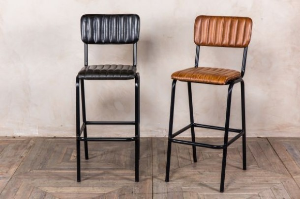 LEATHER BREAKFAST BAR STOOLS | Peppermill Interiors
