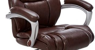 Amazon.com: Flash Furniture High Back Brown Leather Executive Swivel