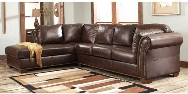 Neoteric Elegant Small Leather Sectional Sofas Brown Leather