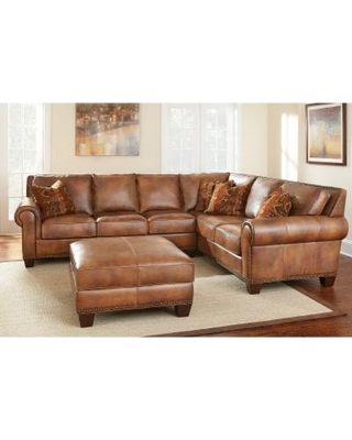 Surprise 10 Off Sanremo Top Grain Leather Sectional Sofa And With