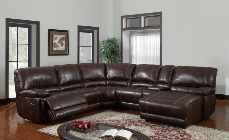 Sofa. outstanding dark brown leather sectional: glamorous-dark-brown
