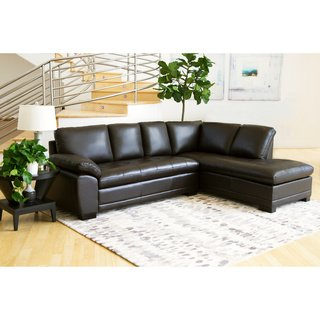 Buy Brown, Leather Sectional Sofas Online at Overstock | Our Best