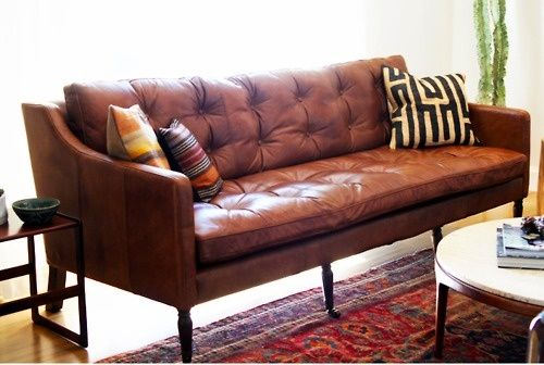 Elegant Furniture u2013 A Brown Leather Sofa u2013 BlogAlways
