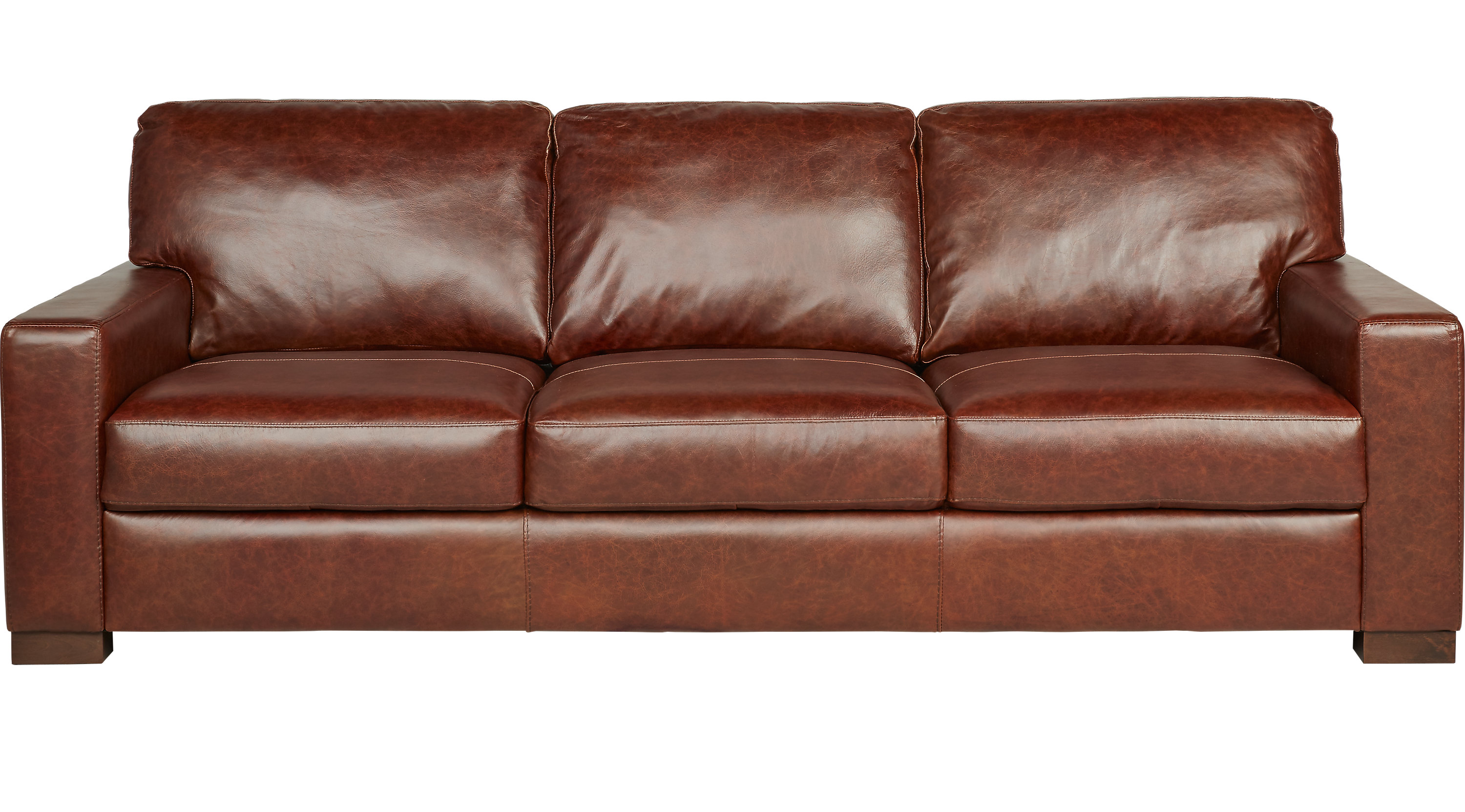 $999.99 - Vicario Brown Leather Sofa - Classic - Transitional,