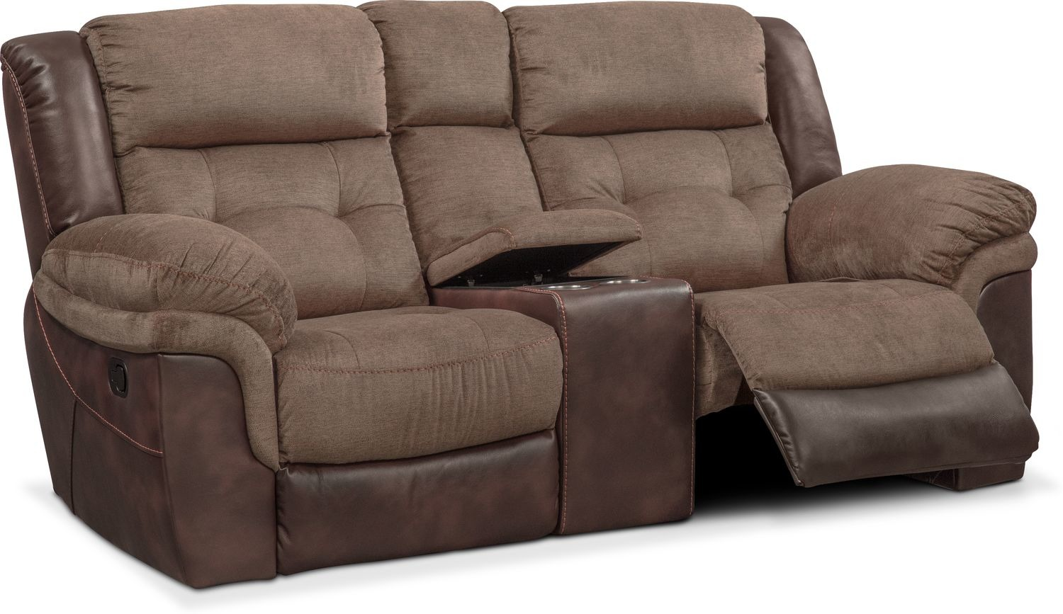 Tacoma Manual Reclining Loveseat with Console | Value City Furniture