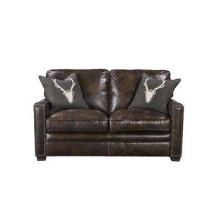 Light Brown Leather Loveseat | Wayfair