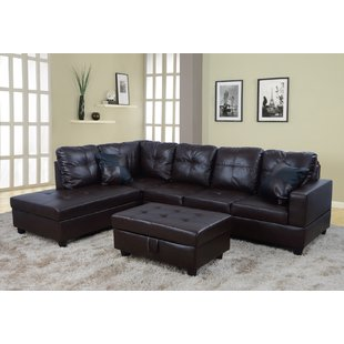 Brown Leather Sectionals You'll Love | Wayfair