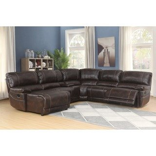 Shop Abbyson Cooper 6-piece Dark Brown Sectional Sofa - On Sale