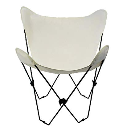Amazon.com : Algoma 4053-00 Butterfly Chair Black Frame, Natural