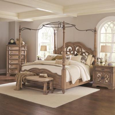 Coaster Furniture Beds Ilana 205071KE King Canopy Bed (King) from