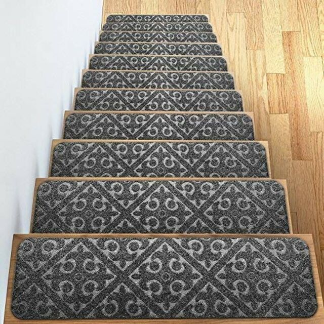 Buy Elogio Carpet Stair Treads Set of 13 Non Slip/Skid Rubber Runner