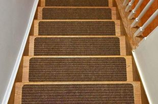 Stair Treads Collection Set of 13 Indoor Skid Slip Resistant Brown