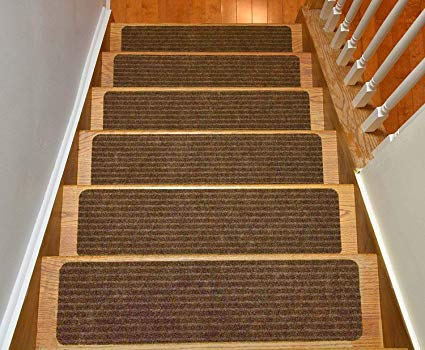 How can you keep carpet stair   treads from moving around?