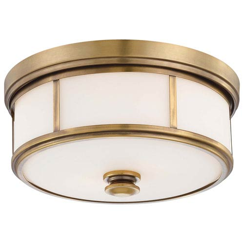Minka Lavery Harbour Point Liberty Gold Two Light Flush Mount 4365