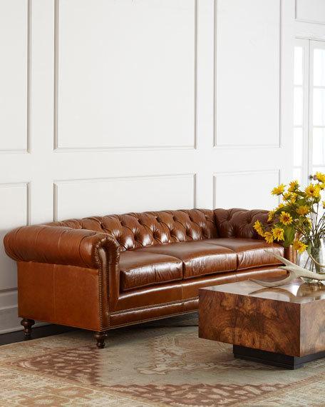 Massoud Davidson Cushion-Seat Chesterfield Sofas