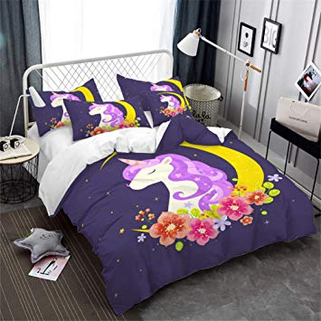 Amazon.com: Children's Bedding Cute Cartoon Unicorn Pattern Print