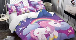 Amazon.com: Children's Bedding Cute Cartoon Unicorn Pattern Print