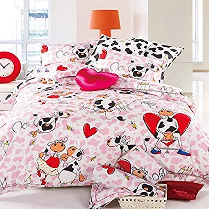Amazon.com: LELVA Cartoon Cotton Bedding Set Children's Bedding