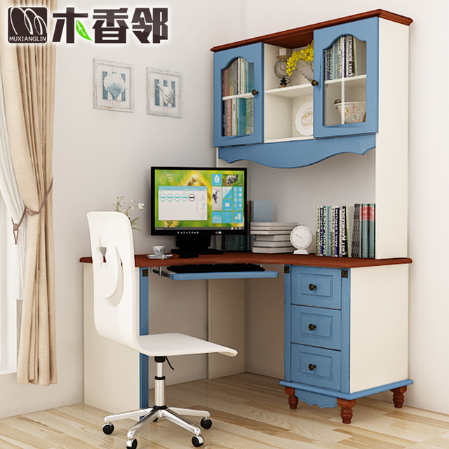 Children's desk wood computer Desks American country bedroom