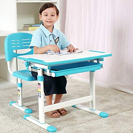Amazon.com: Adjustable Children's Desk Chair Set Kids Study Table