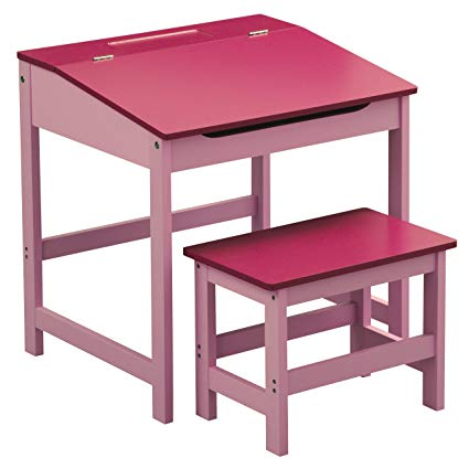 Amazon.com: Premier Housewares Children's Desk And Stool Set - Pink