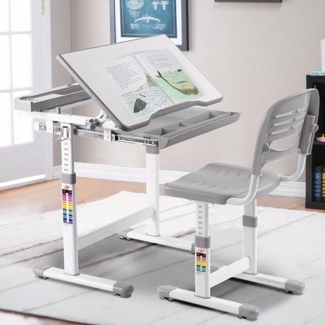 Giantex Height Adjustable Children's Desk Chair Set Multifunctional