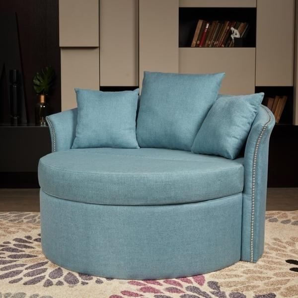Shop LOKATSE Indoor Accent Upholstery Circular Round Shape Loveseat