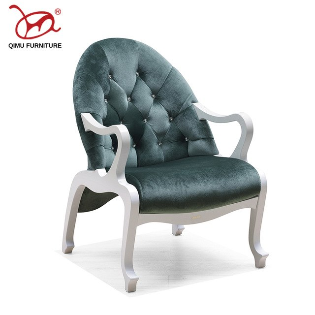Antique wooden furniture solid wood armchairs leisure customizable