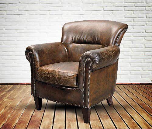 Old English Vintage Leather Armchair - for reading and a glass of