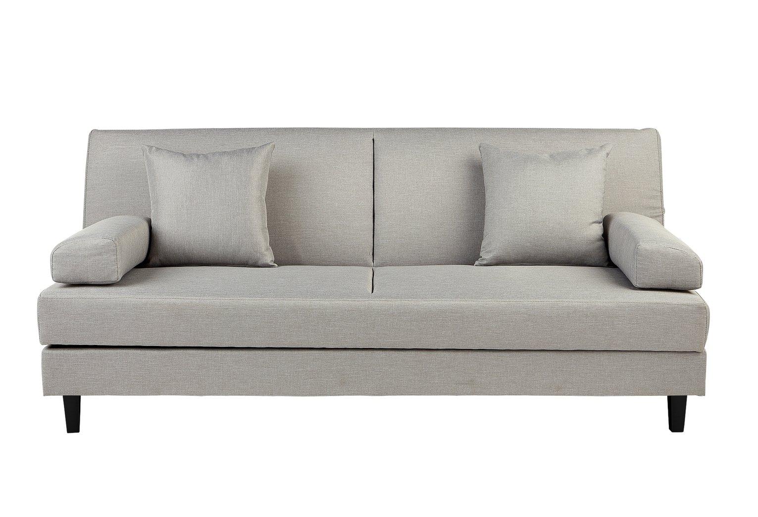 Buy Argos Home Chase Fabric Clic Clac Sofa Bed - Light Grey | Sofa