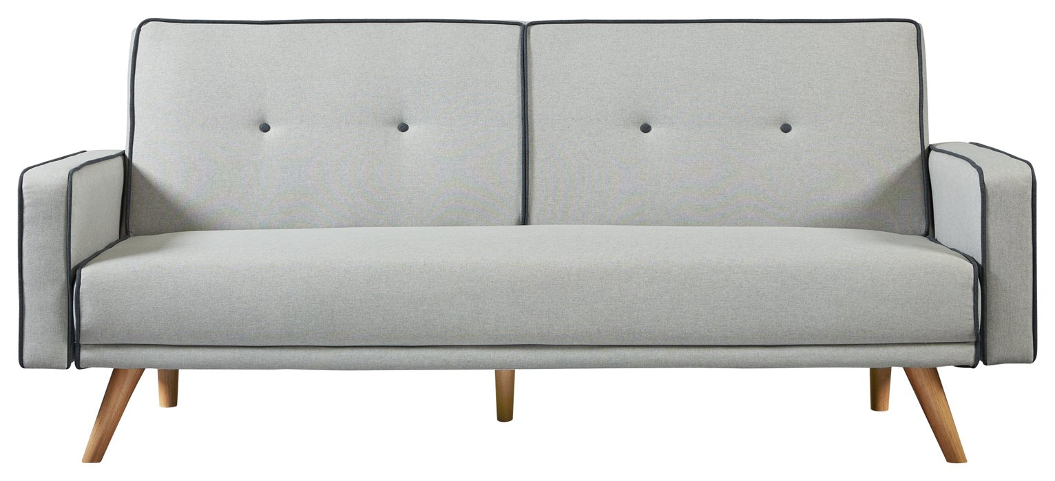 Buy Argos Home Frankie 2 Seater Clic Clac Sofa Bed - Grey | Sofa