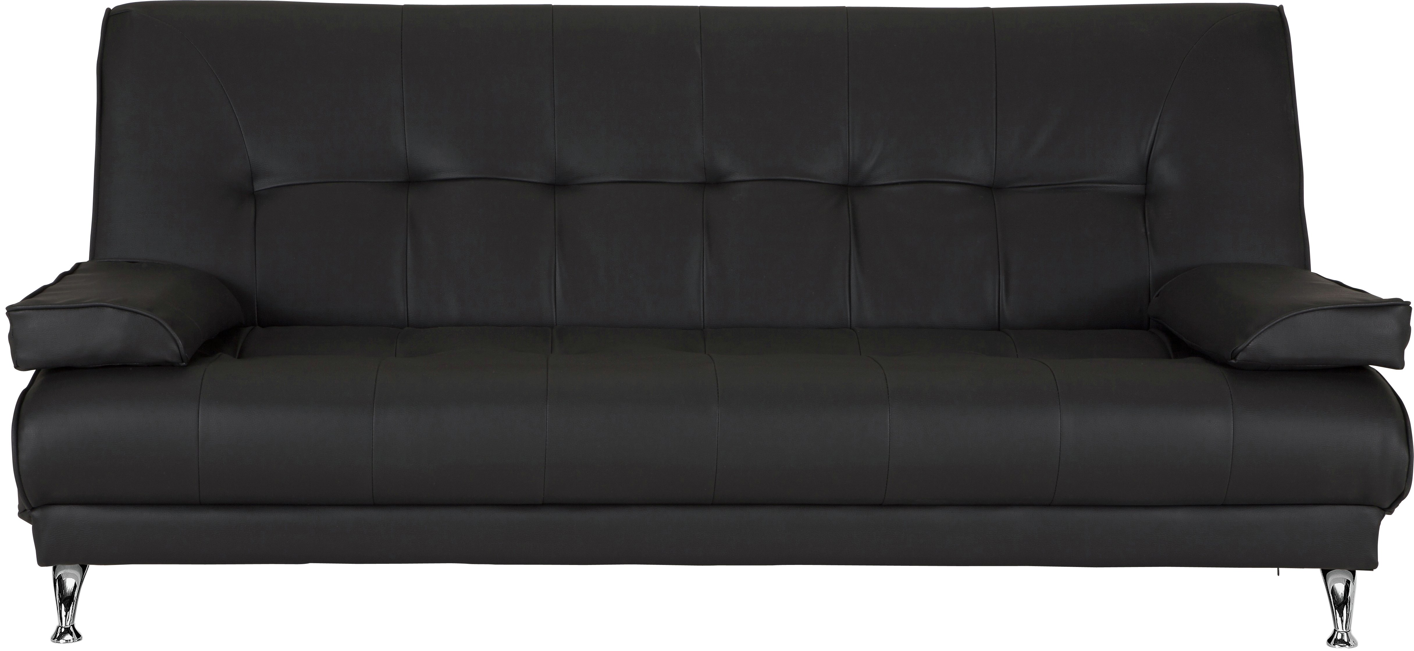 Buy Argos Home Sicily 2 Seater Fabric Clic Clac Sofa Bed - Black