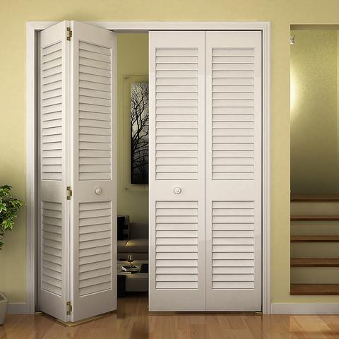 Closet Door, Bi-fold, Kimberly Bay® Plantation Louver-Louver White