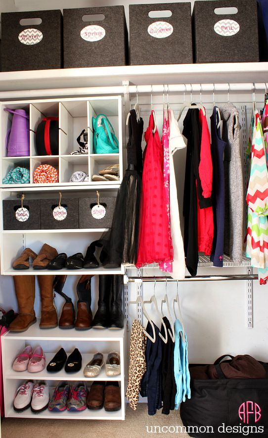 Closet organization ideas:   innovative and wonderful