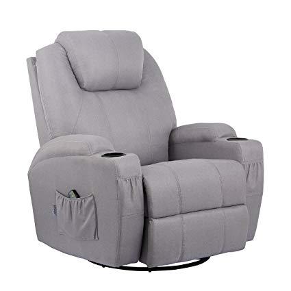 Amazon.com: Esright Grey Fabric Massage Recliner Chair 360 Degree