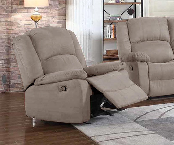 Diego Grey Motion Cloth Recliner - Also available in chocolate
