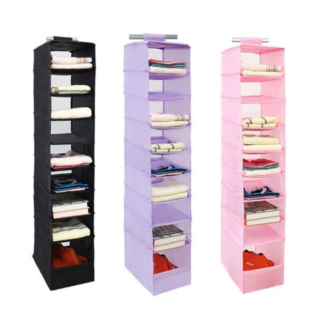 HIPSTEEN Nine Layers Durable Oxford Cloth Organizer Rack Wardrobe
