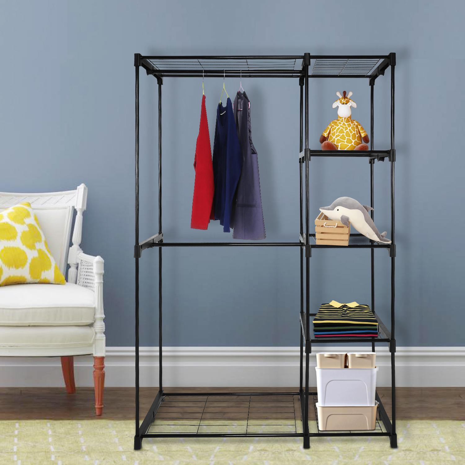 Closet Organizer Storage Rack Portable Clothes Hanger Home Garment