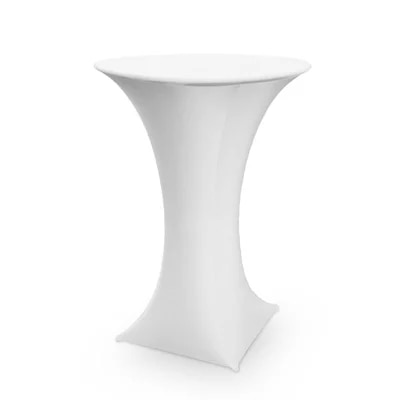 white spandex cocktail table cover-in Tablecloths from Home & Garden