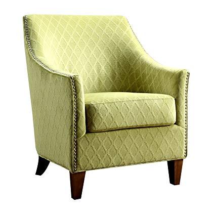 Amazon.com: Accent Armchair Heavy Duty Wooden Frame Lime Fabric