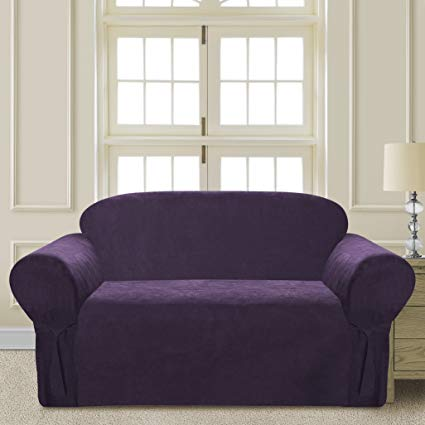Amazon.com: Comfy Bedding Microsuede Sofa Furniture Slipcover with
