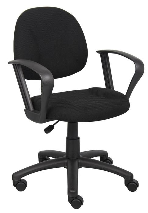 OCC Posture Task Chair Black Computer Desk Chair Loop Arms u2014 Nicer