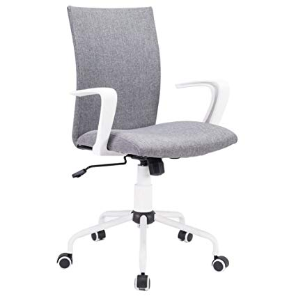Amazon.com: Grey Modern Office Chair Computer Desk Chair Comfort
