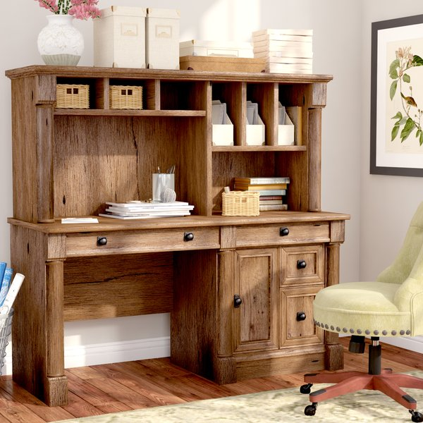 Three Posts Orviston Computer Desk with Hutch & Reviews | Wayfair
